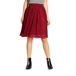 Xhilaration Women's Lace Knee-Length Lined Skirt